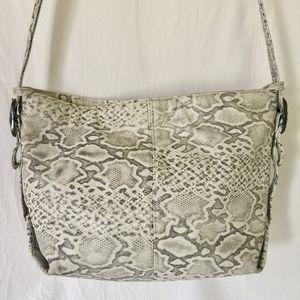 Handbags - Faux Snakeskin Leather Shoulder Bag
